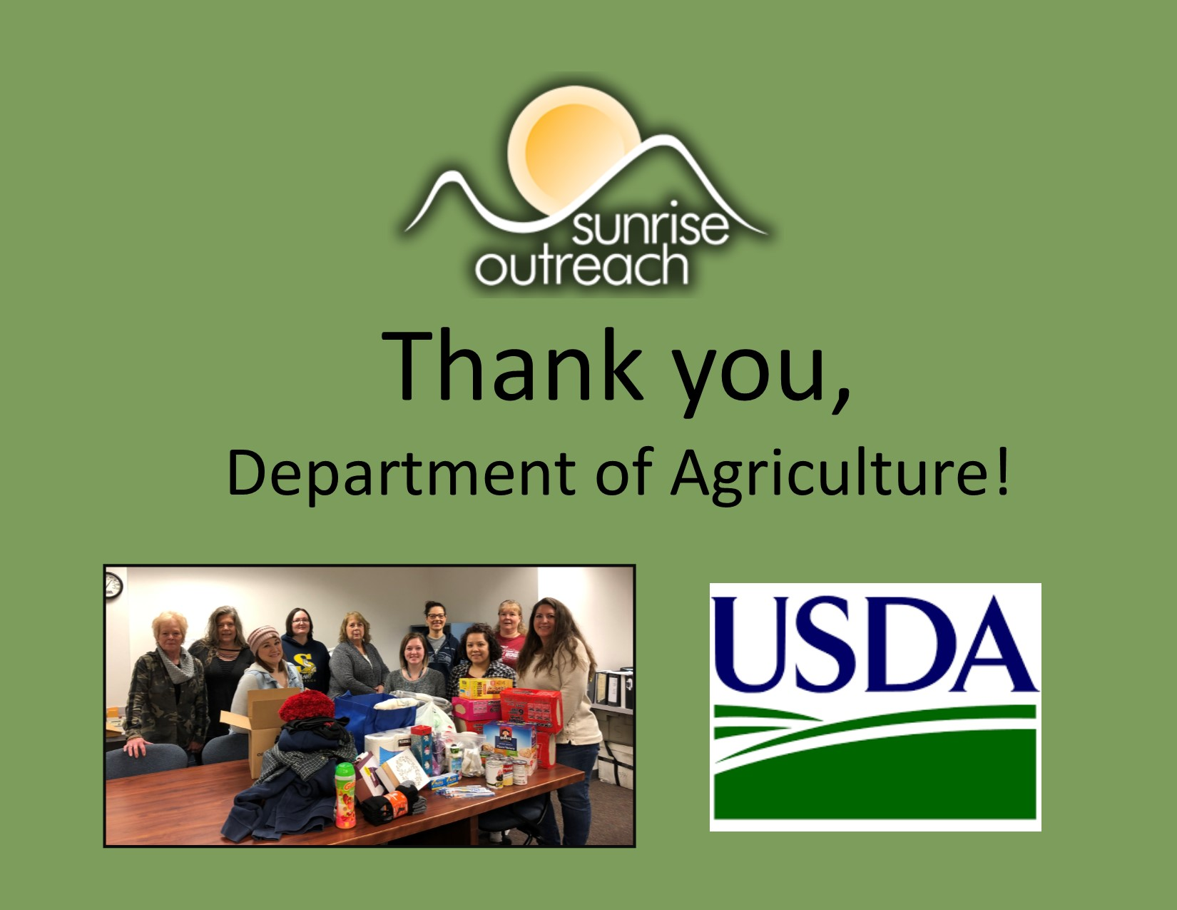Thank you, Department of Agriculture!